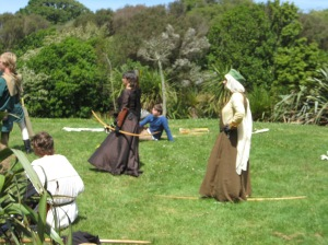 more archery, with Anne Dugmore