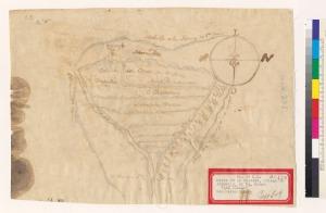 Map of the Rancho de las Pulgas ca. 1857