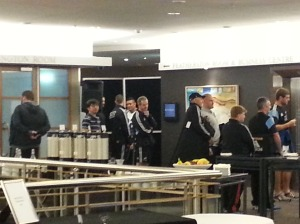 All Blacks leaving for the game against Aussie, which they won, of course!