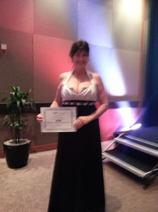 Receiving award for the 2014 RWNZ Great Beginnings Contest
