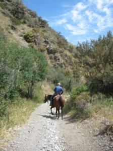 The narrow canyons.. we walked through them, but Aleksandra had to race ...
