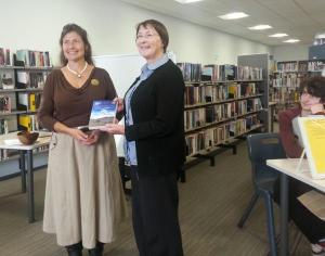 NZ Launch of A Long Trail Rolling, Waihi Library, Waihi. Thanks very much to Zee for the photo!